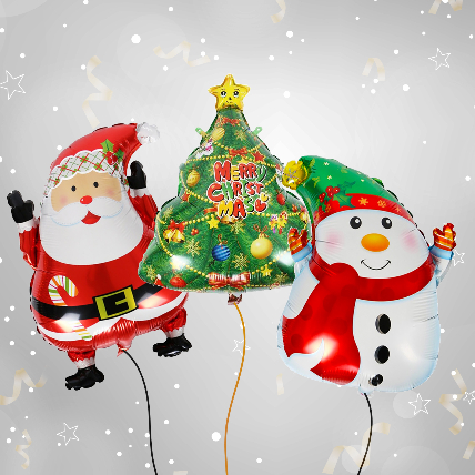 Christmas Celebration with Balloon Set: Christmas Gifts