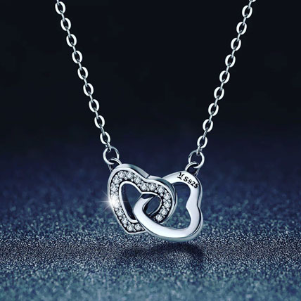 Connected Heart Necklace: Accessories