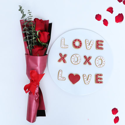 XOXO Cookies and Flowers: Valentines Day Gifts