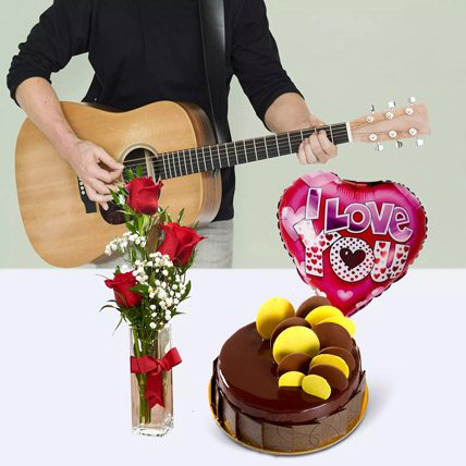 Musical I Love You: Flowers & Guitarist Service