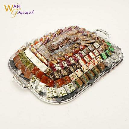 Mixed Malban and Nougat Gift Basket 3.205kg: Ramadan Sweets