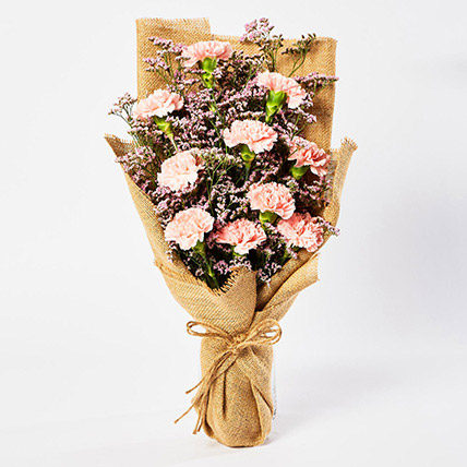Lovely Pink Carnations Bouquet: New Arrival Gifts in Dubai
