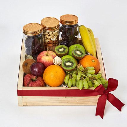 Nuts and Fruits Hamper: Fruit Basket Dubai