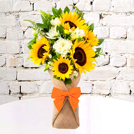Sunflower Galore Bunch: Wedding Anniversary Flowers