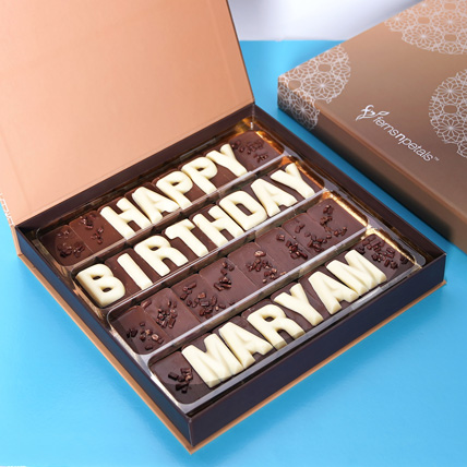Customized Happy Birthday Chocolate: Birthday Gift Ideas For Husband