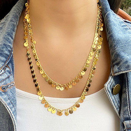 Gold Plated Chain Necklace: Artificial Jewellery