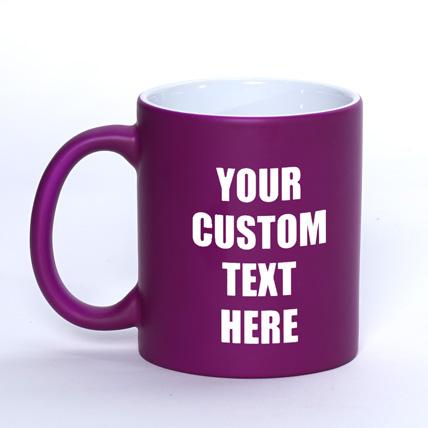 Personalized matte Purple Mug: Personalized Mugs Dubai