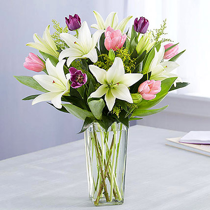 Medley Of Lilies and Tulips: