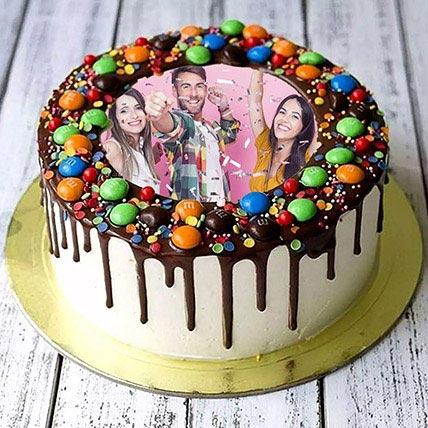 MNM Chocolate Birthday Photo Cake: Best Cake in Abu Dhabi
