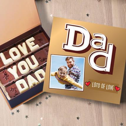 Love You Dad Personalised Chocolate Box: Personalised Chocolates