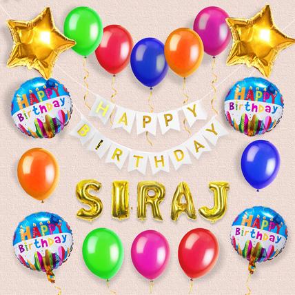 Birthday Decoration with Name: Balloon Decoration Dubai