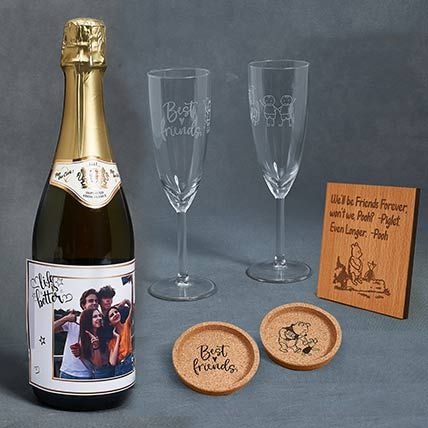 Perosnalised Juice Bottle Combo: Friendship Day Personalised Gifts