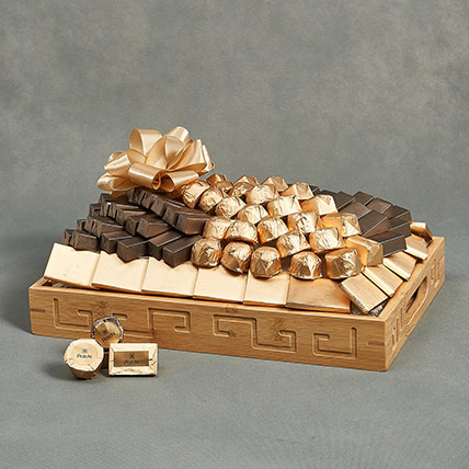 Patchi Chocolates in Wooden Tray: Patchi Chocolate Dubai
