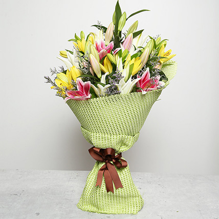 Vibrant Bouquet of Lilies: Flower Delivery In Dubai