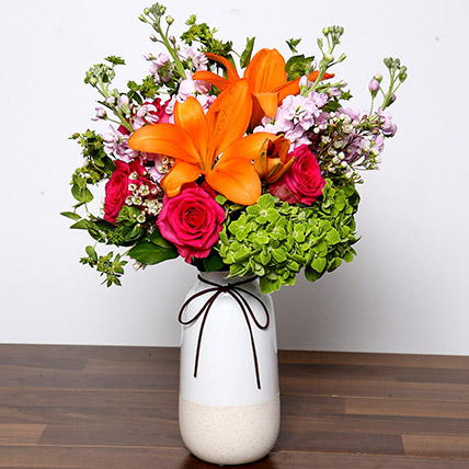 Vivid Mixed Flower Vase: New Arrival Gifts