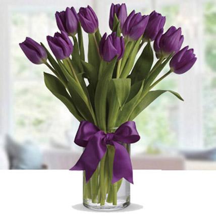 Purple Tulip Arrangement LB: Flower Delivery Lebanon