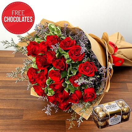 Romantic Roses And Free Chocolates: Send Flowers To Pakistan