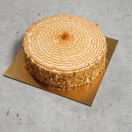 1Kg Yummy Butterscotch Cake QT: Cake Delivery in Qatar