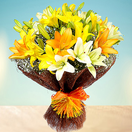 Sunny Asiatic Lilies QT: Gift Delivery in Qatar
