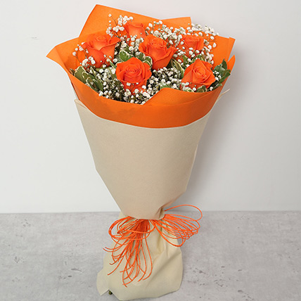 Bouquet Of Orange Roses SA: Flower Delivery Saudi Arabia