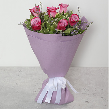 Bouquet Of Purple Roses SA: Flower Delivery Saudi Arabia