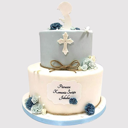 Blue And White Christening Cake: Cakes To Dhahran