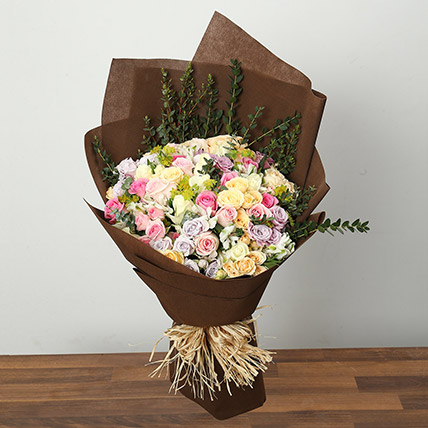 Colorful Pastel Roses: Gift Delivery in Riyadh