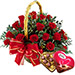 Red Rose Basket and Chocolates