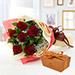 6 Red Roses and Godiva Chocolate Combo JD