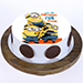 Funny Minions Blackforest Cake 1 Kg Eggless