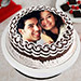 Personalized Cake of Love Eggless 1 Kg Black Forest Cake