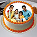 Sizzling Round Personalized Cake Eggless 2 Kg Pineapple Cake