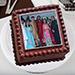 Square Photo Cake 2 Kg Black Forest Cake