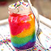 Delicious Vanilla Rainbow Vegan Jar Cake